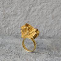 Lyra ring forgylt